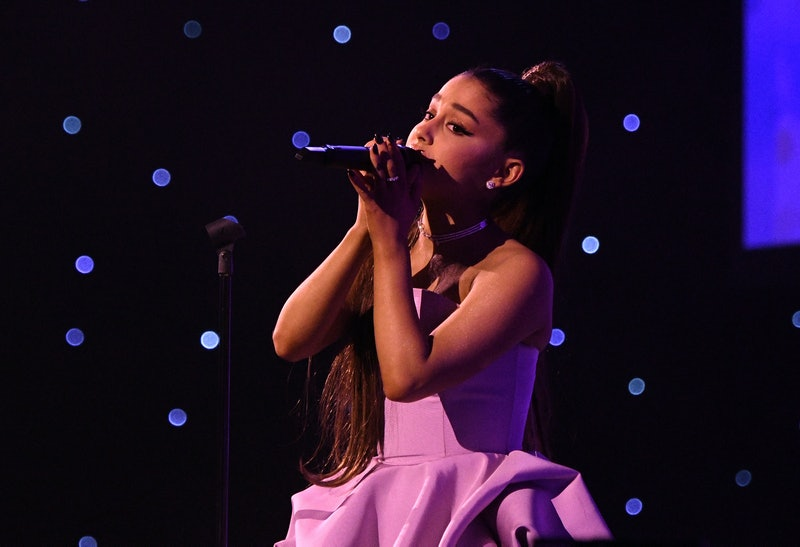 NEW YORK, NY - DECEMBER 06:  Ariana Grande performs onstage at Billboard Women In Music 2018 on December 6, 2018 in New York City.  (Photo by Mike Coppola/Getty Images for Billboard )