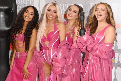 LONDON, ENGLAND - FEBRUARY 20: Perrie Edwards, Jesy Nelson, Jade Thirlwall and Leigh-Anne Pinnock of 'Little Mix' in the winners room during The BRIT Awards 2019 held at The O2 Arena on February 20, 2019 in London, England. (Photo by Stuart C. Wilson/Getty Images)
