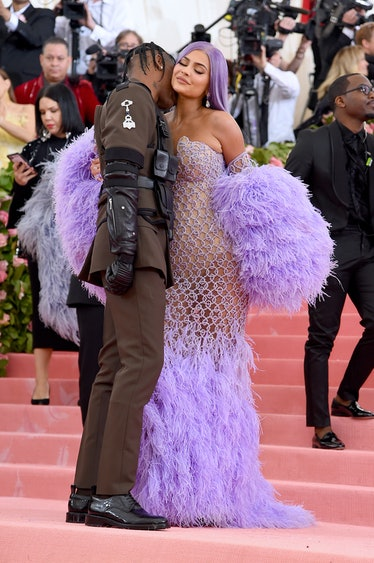 NEW YORK, NEW YORK - MAY 06: Travis Scott and Kylie Jenner attend The 2019 Met Gala Celebrating Camp...