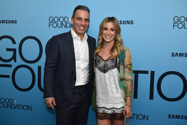 NEW YORK, NY - SEPTEMBER 12:  Sebastian Maniscalco (L) and Lana Gomez attend the 2018 GOOD+ Foundation's Evening of Comedy + Music Benefit, presented by Samsung Electronics America at Carnegie Hall on September 12, 2018 in New York City.  (Photo by Andrew Toth/Getty Images for GOOD+ Foundation)