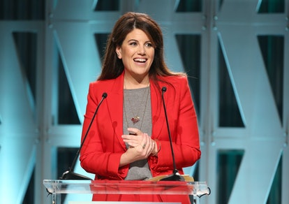 LOS ANGELES, CA - DECEMBER 05:  Monica Lewinsky speaks onstage during The Hollywood Reporter's Power 100 Women In Entertainment at Milk Studios on December 5, 2018 in Los Angeles, California.  (Photo by Jesse Grant/Getty Images for The Hollywood Reporter )