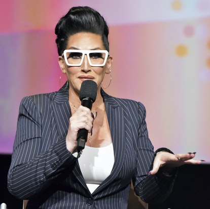 NORTH HOLLYWOOD, CA - MAY 21:  Michelle Visage speaks onstage at the Women in Entertainment and The Television Academy Foundation's Inaugural Women in Television Summit at Saban Media Center on May 21, 2018 in North Hollywood, California.  (Photo by Rodin Eckenroth/Getty Images)
