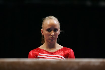 NEW YORK - MARCH 01:  Nastia Liukin of the USA prepares to perform on the balance beam during the 2008 Tyson American Cup on March 1, 2008 at Madison Square Garden in New York City.  (Photo by Chris Trotman/Getty Images)