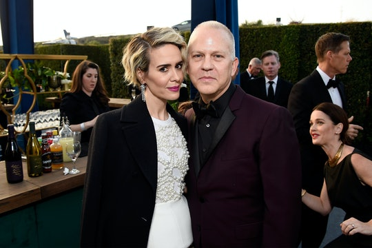 SANTA MONICA, CA - DECEMBER 11:  Actress Sarah Paulson (L) and producer Ryan Murphy attend The 22nd Annual Critics' Choice Awards at Barker Hangar on December 11, 2016 in Santa Monica, California.  (Photo by Matt Winkelmeyer/Getty Images for The Critics' Choice Awards)