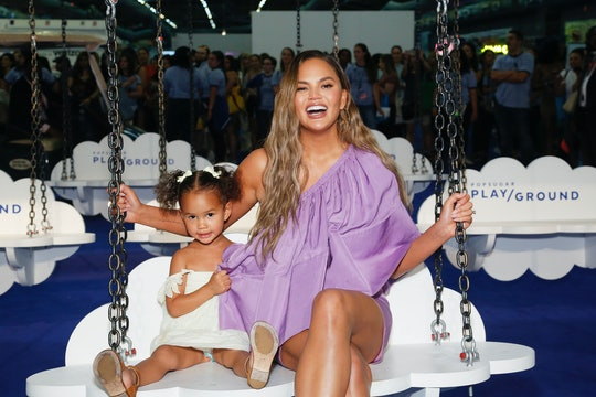 NEW YORK, NEW YORK - JUNE 23: Luna Legend and Chrissy Teigen pose for a photo during POPSUGAR Play/Ground at Pier 94 on June 23, 2019 in New York City. (Photo by Lars Niki/Getty Images for POPSUGAR and Reed Exhibitions )