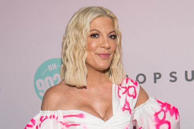 LOS ANGELES, CALIFORNIA - AUGUST 03: Tori Spelling attends the Beverly Hills 90210 Peach Pit Pop-Up on August 03, 2019 in Los Angeles, California. (Photo by Emma McIntyre/Getty Images)