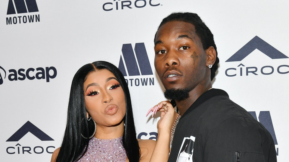 BEVERLY HILLS, CALIFORNIA - JUNE 20: Cardi B and Offset attend 2019 ASCAP Rhythm & Soul Music Awards  at the Beverly Wilshire Four Seasons Hotel on June 20, 2019 in Beverly Hills, California. (Photo by Amy Sussman/Getty Images)