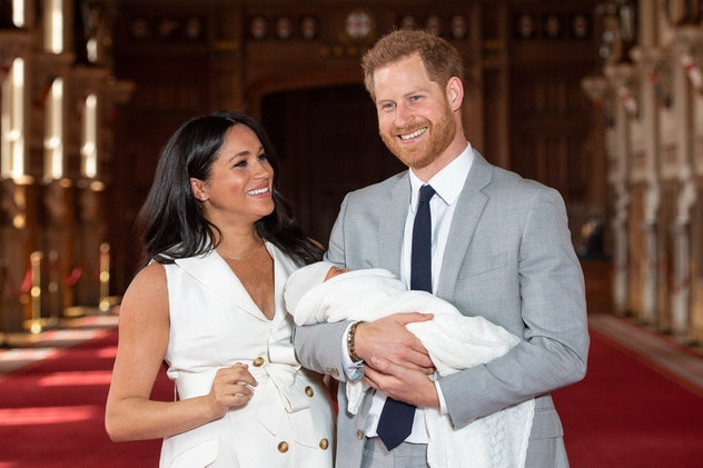 Prince Harry was happy to be a new dad.