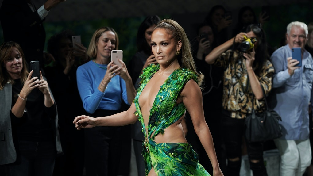 2020 Grammys Full Show.Jennifer Lopez Closed Versace S 2020 Fashion Show In Her