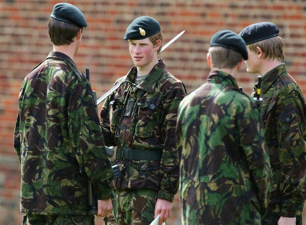 Prince Harry was in the military.