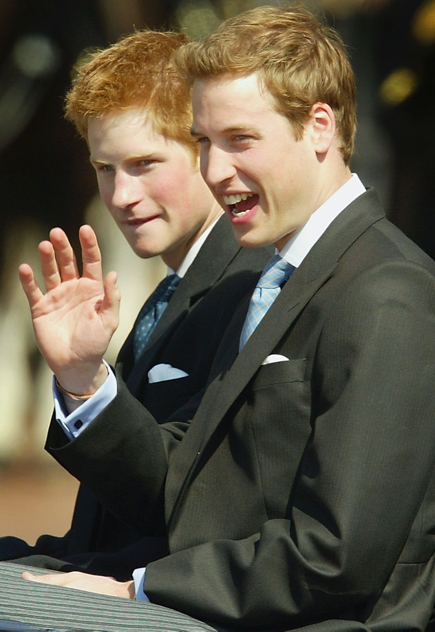 Prince Harry waved to adoring fans in 2003.