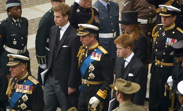 Prince Harry held it together at his mother's funeral in 1997.