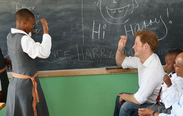 Prince Harry is great with kids.
