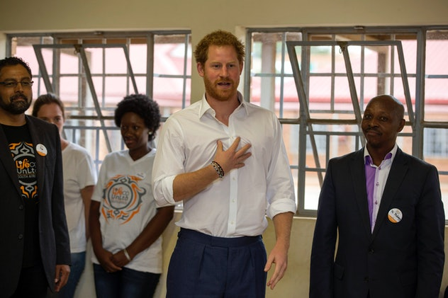 Prince Harry is not shy.