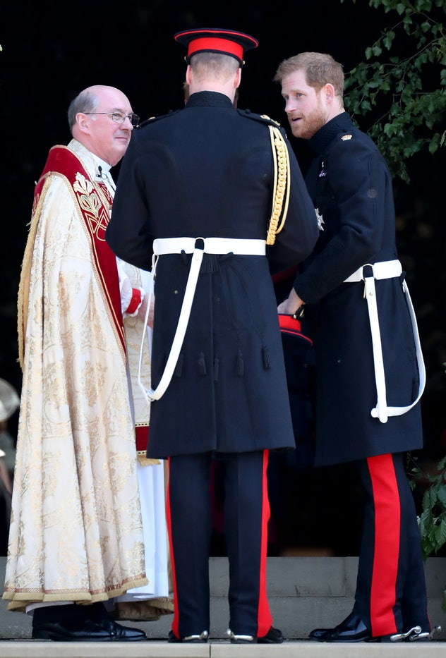 Prince Harry appeared calm on his wedding day.
