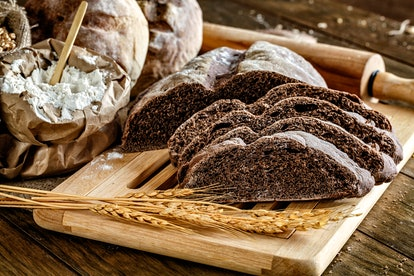 A rye sourdough bread. Research says that rye and wholegrain sourdoughs may be the best bread-based option for gut health.