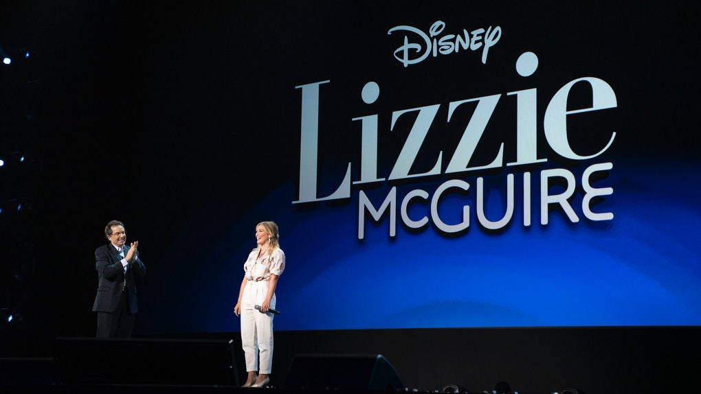 Hilary Duff promoting the Lizzie McGuire reboot, which was put on hold