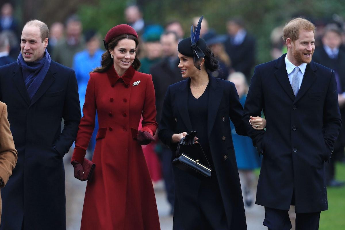Prince William, Duchess Kate Middleton, Duchess Meghan Markle, Prince Harry