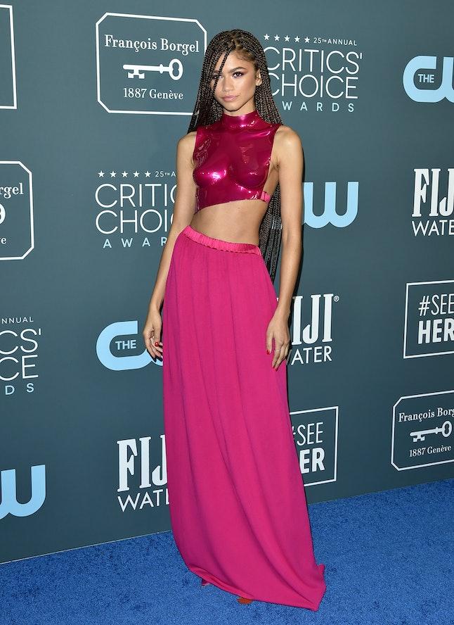Zendaya's Tom Ford separates at the Critics Choice Awards were so sleek.