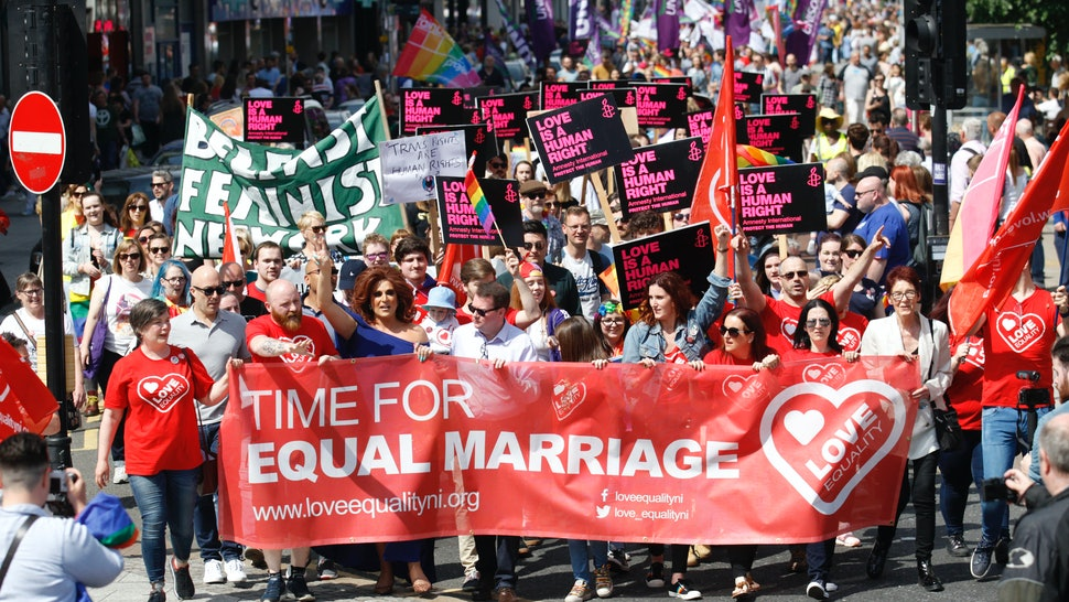 Same-sex marriage is officially legal in Northern Ireland from Jan. 13, 2020