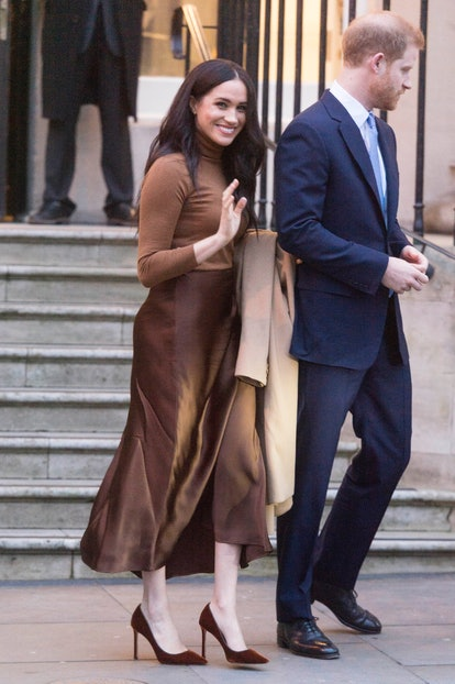 Meghan Markle is as known for her neutrals as the Queen is for her colorful palette.