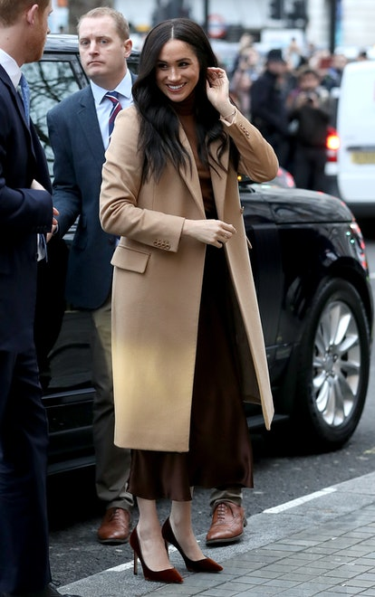 Meghan Markle's brown look at Canada House may have inspired the Queen.