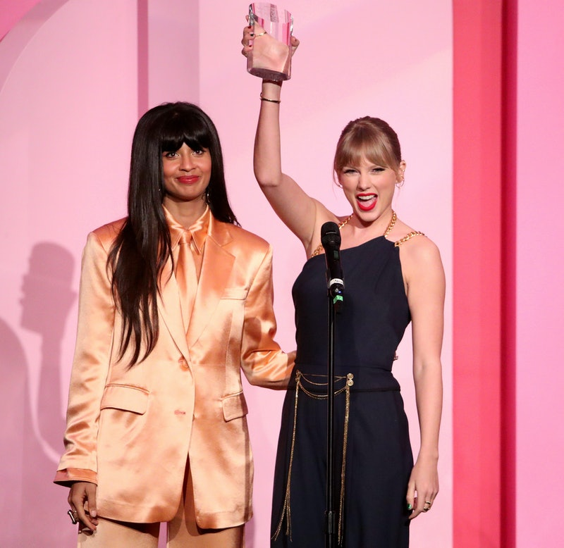 Jameela Jamil and Taylor Swift at Billboard Women in Music event