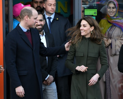 Kate Middleton wears an Alexander McQueen coat