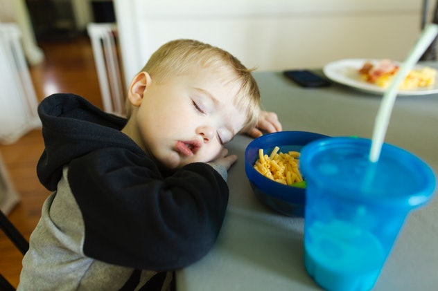 Falling asleep frequently during the day is a toddler sleep red flag that parents should watch out for.