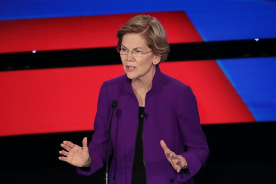Sen. Elizabeth Warren's response to whether a woman can beat President Donald Trump was a powerful refresher on the facts.