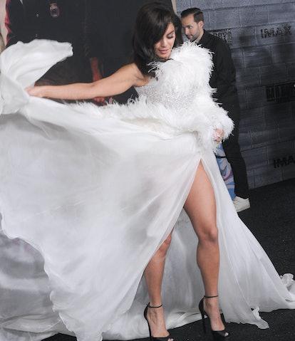 Vanessa Hudgens' Bad Boys for Life dress was a moment.