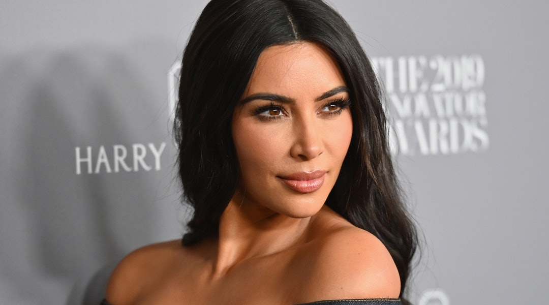 Kim Kardashian debuted blonde hair in the latest KKW Beauty campaign