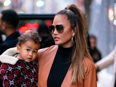 Chrissy Teigen's son Miles is becoming a serious fashionista.