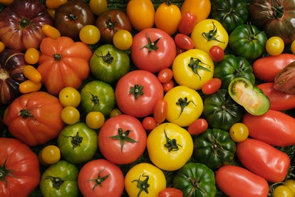 A display of tomatoes. MSG is found in high amounts in tomatoes.
