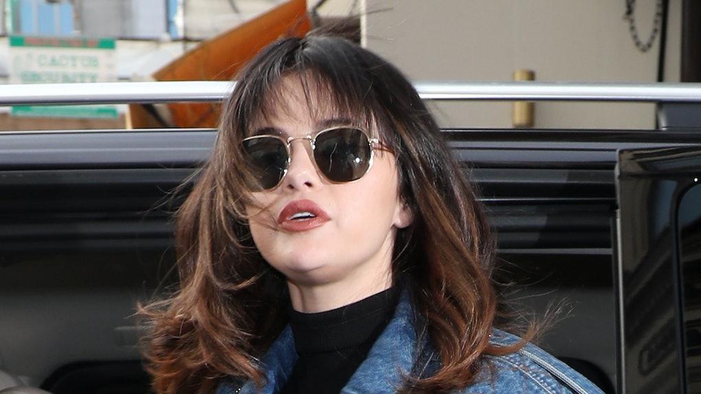 Selena Gomez steps out in head-to-toe denim.