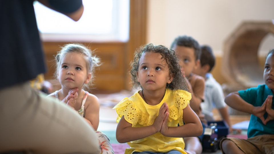 kids in a day care classroom