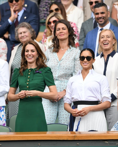 Meghan Markle wears Le Specs sunglasses frequently.