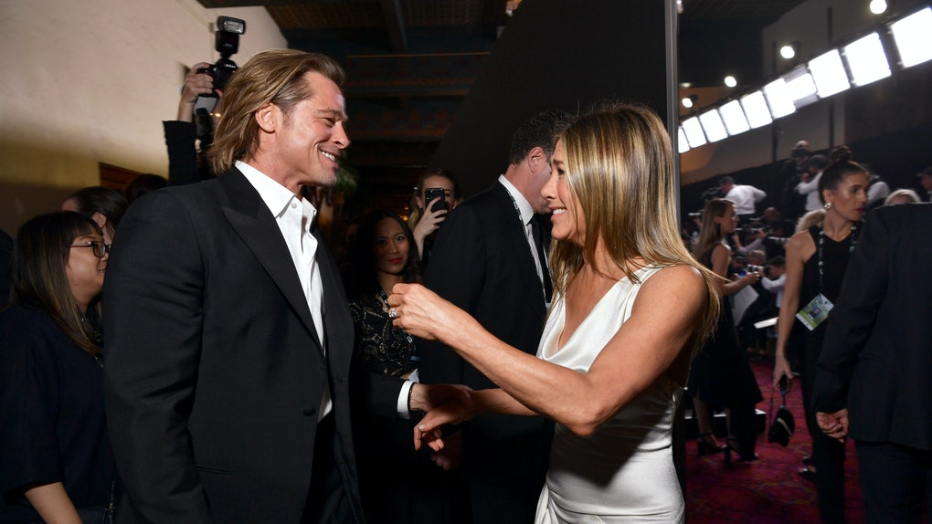 Brad Pitt and Jennifer Aniston attend the 2020 SAG Awards.