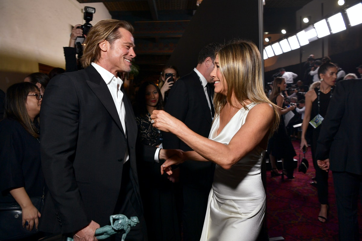 Brad Pitt and Jennifer Aniston attend the 2020 SAG Awards.