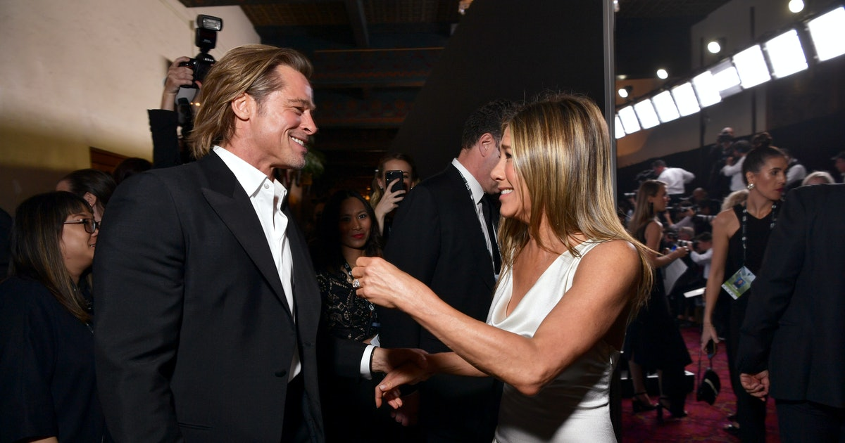 Jennifer Aniston's Reaction To Brad Pitt's SAG Awards Video Was So Adorable