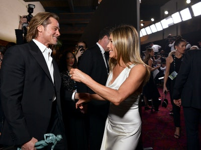 Brad Pitt and Jennifer Aniston's reunion at the 26th Screen Actors Guild Awards has folks on social media in a frenzy.