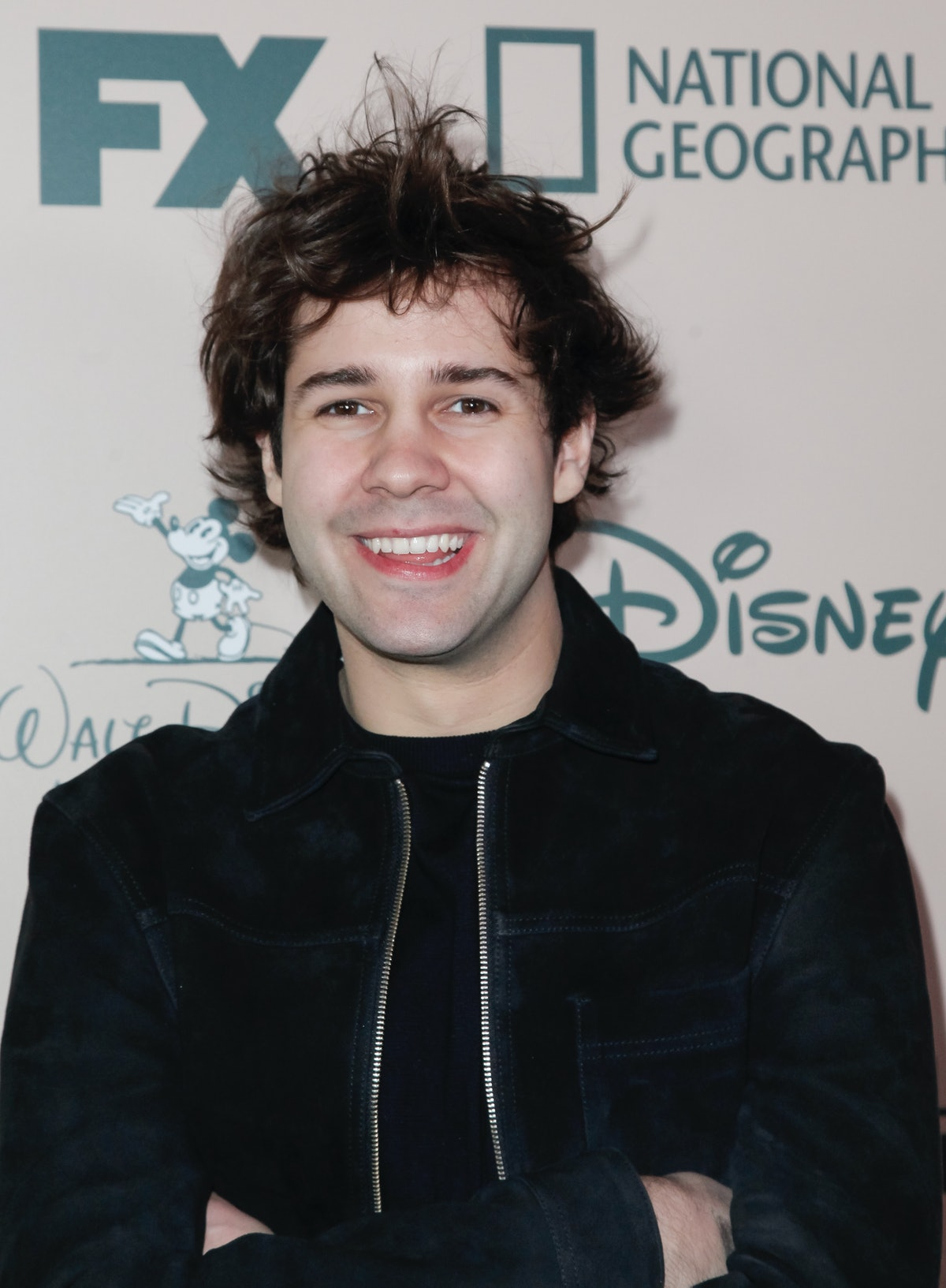 David Dobrik hits the red carpet at an event for FX.