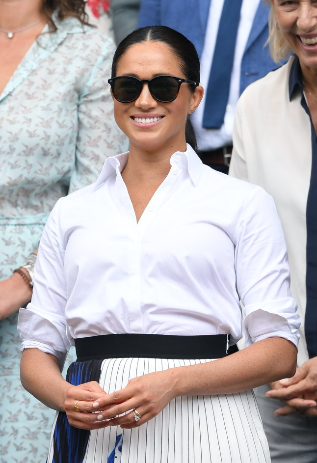Meghan Markle's sunglasses were seen at Wimbledon.
