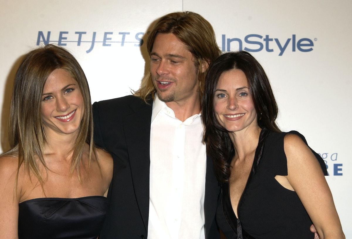 Courteney Cox liked tweets about Jennifer Aniston and Brad Pitt