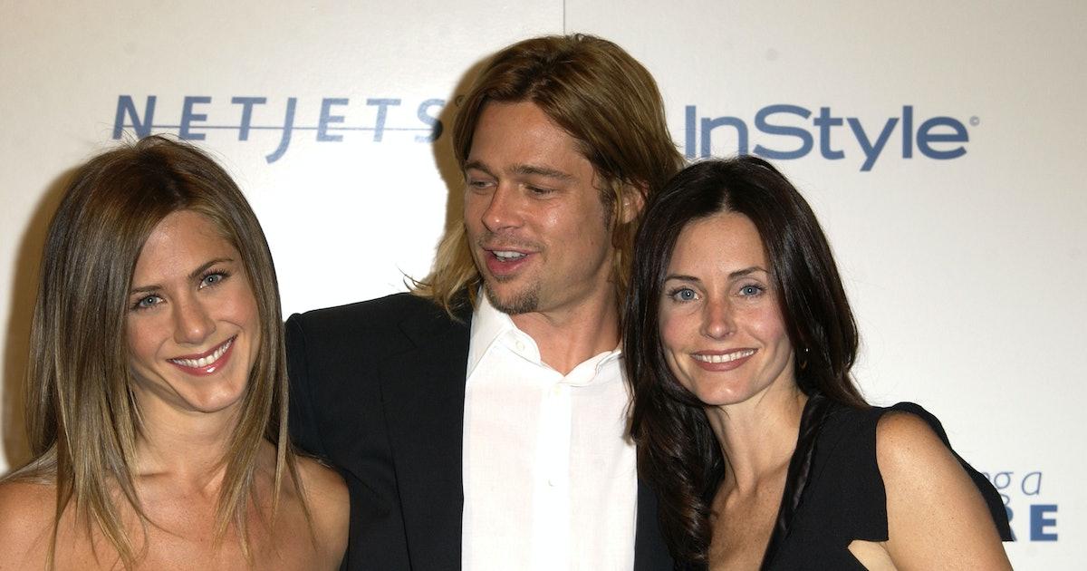 Courteney Cox Liked Tweets About Jennifer Aniston & Brad Pitt's Love