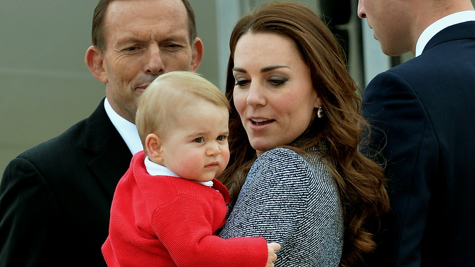 Kate Middleton holding baby Prince George