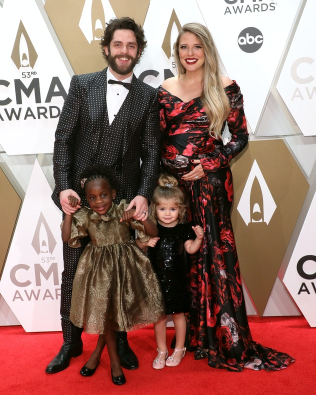 Thomas Rhett brought his wife and two daughters with him as his date to the 2019 CMA Awards.