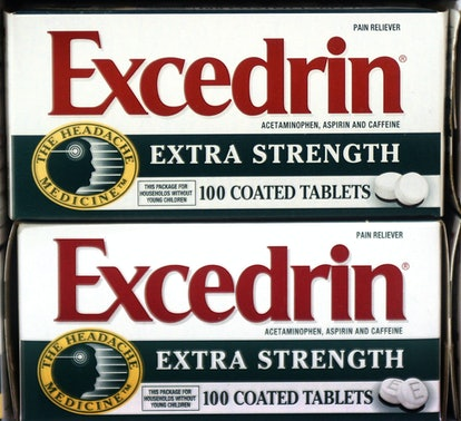 Pharmaceutical company has temporarily halted production on Excedrin Extra Strength and Excedrin Migraine pills as a safety precaution.