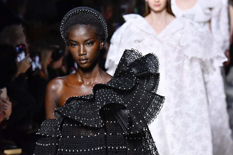 Haute Couture Spring 2020 hair accessories include headbands, hats, and more.