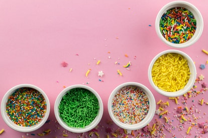 Colorful sprinkles in your team's color help make any dessert a Super Bowl dessert.